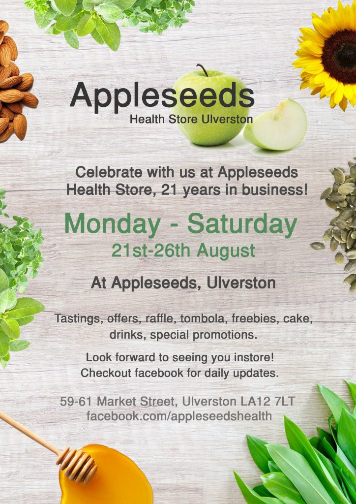 Appleseeds Health Store, 21 Years in Business! - Choose Ulverston