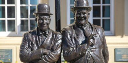 The Laurel and Hardy Statue