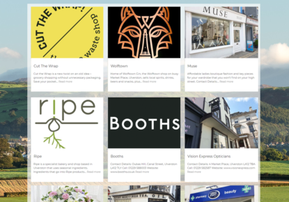 Ulverston Online Shop list